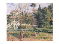 Vegetable Garden at the Hermitage, Pontoise, 1879 Fine-Art Print