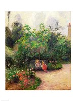 A Corner of the Garden at the Hermitage, Pontoise, 1877 Fine-Art Print