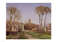 Entrance to the Village of Voisins, Yvelines, 1872 Fine-Art Print