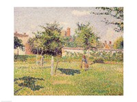 Woman in the Meadow at Eragny, Spring, 1887 Fine-Art Print