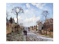 The Road to Louveciennes, 1872 Fine-Art Print