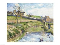 The Farm at Osny, 1883 Fine-Art Print