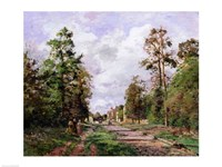 The road to Louveciennes at the edge of the wood, 1871 Fine-Art Print