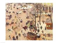 Place du Theatre Francais, 1898 Fine-Art Print