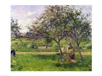 The Wheelbarrow, Orchard, c.1881 Fine-Art Print