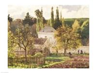 House in the Hermitage, Pontoise, 1873 Fine-Art Print