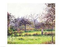 Morning Sun, Autumn, Eragny, 1897 Fine-Art Print