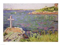 Saint-Briac, the Sailor's Cross, 1885 Fine-Art Print