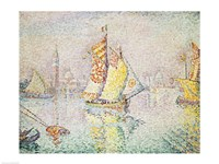 The Yellow Sail, Venice, 1904 Framed Print
