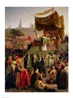 St. Bernard Preaching the Second Crusade in Vezelay Fine-Art Print