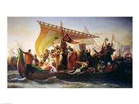 The Crossing of the Bosphorus by Godfrey of Bouillon Fine-Art Print