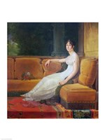 Empress Josephine - yellow couch Fine-Art Print