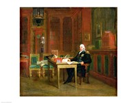 Louis XVIII in his Study at the Tuileries Fine-Art Print