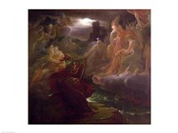 Ossian Conjuring up the Spirits on the Banks of the River Lora with the Sound of his Harp, 1801 Fine-Art Print