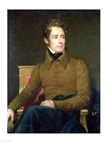 Portrait of Alphonse de Lamartine Fine-Art Print