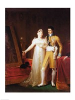 Portrait of Jerome Bonaparte - with a woman Fine-Art Print