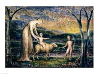 Our Lady with the Infant Jesus Riding on a Lamb with St John Fine-Art Print