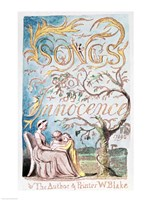 Songs of Innocence; Title Page, 1789 Fine-Art Print