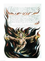 America a Prophecy; 'Thus wept the Angel voice', the emergence of Orc Fine-Art Print