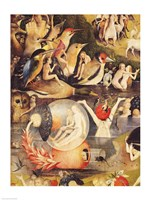 The Garden of Earthly Delights: Allegory of Luxury, people with birds detail Fine-Art Print