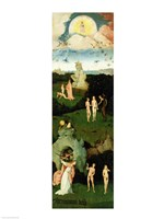 The Haywain: left wing of the triptych depicting the Garden of Eden, c.1500 Fine-Art Print