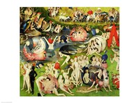 The Garden of Earthly Delights: Allegory of Luxury, center panel detail Fine-Art Print
