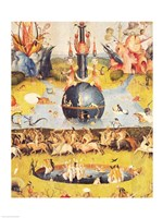 The Garden of Earthly Delights: Allegory of Luxury (yellow center panel detail) Fine-Art Print