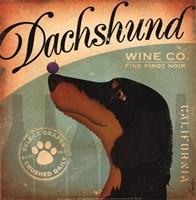 Dachshund Wine Fine-Art Print