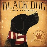 Black Dog Mistletoe Fine-Art Print