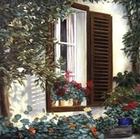 Window with Flowers II Fine-Art Print