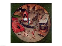 Tabletop of the Seven Deadly Sins and the Four Last Things, detail of Hell, c.1480 Fine-Art Print