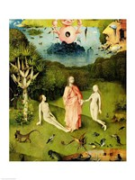The Garden of Earthly Delights: The Garden of Eden, left wing of triptych, c.1500 Fine-Art Print