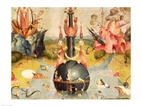 The Garden of Earthly Delights: Allegory of Luxury (yellow horizontal center panel detail) Fine-Art Print