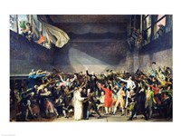 The Tennis Court Oath, 20th June 1789 Fine-Art Print
