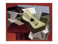 Guitar and Newspaper, 1925 Fine-Art Print