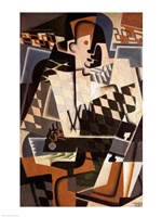 Harlequin with a Guitar, 1917 Fine-Art Print