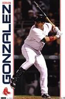 Red Sox - A Gonzalez 11 Wall Poster