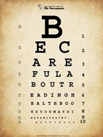 Mark Twain Eye Chart Fine-Art Print