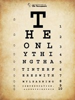 Einstein Eye Chart Fine-Art Print