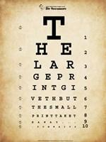Tom Waits Eye Chart Fine-Art Print