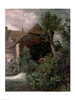 Watermill at Gillingham, Dorset Fine-Art Print