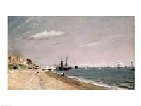 Brighton Beach with colliers, 1824 Fine-Art Print