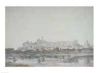 Windsor Castle from the River, 19th century Fine-Art Print