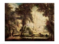 Salisbury Cathedral from the Bishop's Grounds, c.1822-23 Fine-Art Print