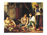 The Women of Algiers in their Apartment, 1834 Fine-Art Print