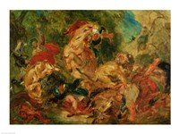 Study for The Lion Hunt, 1854 Fine-Art Print