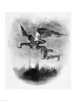 Mephistopheles' Prologue in the Sky, from Goethe's Faust, 1828 Fine-Art Print