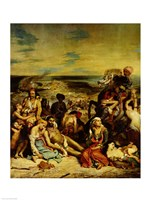 Scenes from the Massacre of Chios, 1822 Fine-Art Print