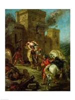 Rebecca Kidnapped by the Templar, Sir Brian de Bois-Guilbert, 1858 Fine-Art Print