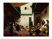 A Jewish wedding in Morocco, 1841 Fine-Art Print